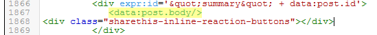 Cara Memasang Tombol React Rating Emoji pada Artikel Blog - paste script inline sharethis