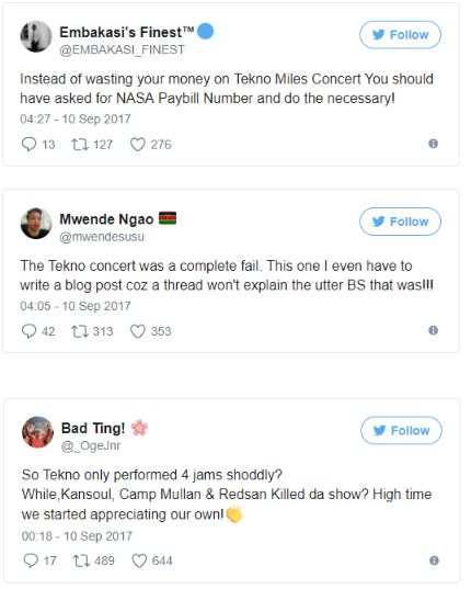 Kenyans Slam Singer Tekno for Giving Horrible Performance in Nairobi