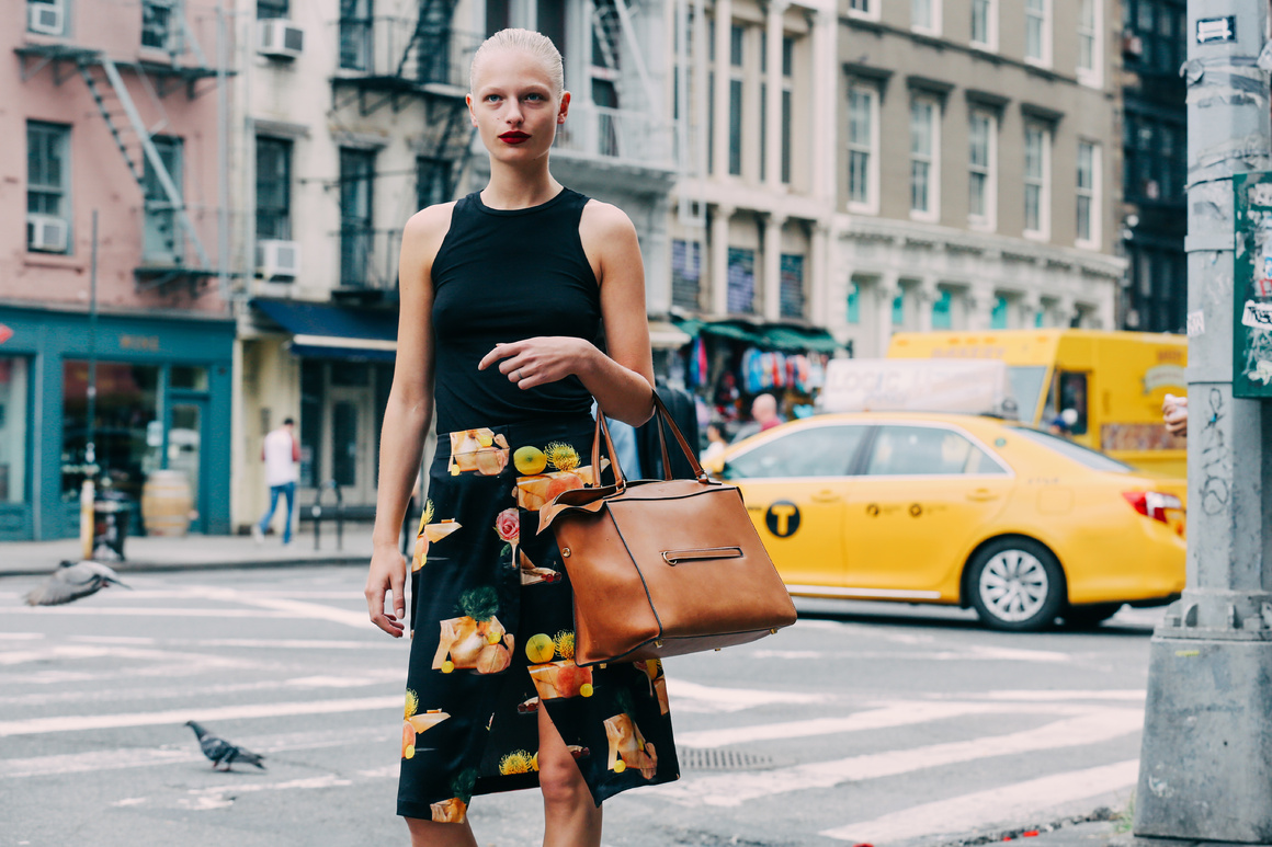 Street Style: Frederikke Sofie in Acne Studios Printed Skirt