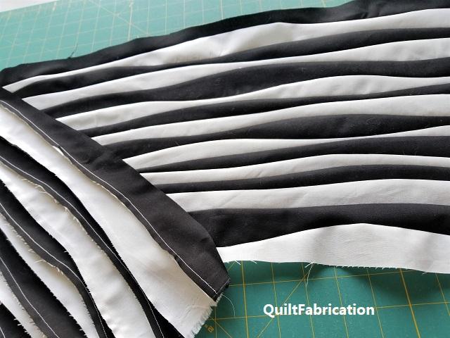 Improv Patchwork wavy mat cut strips