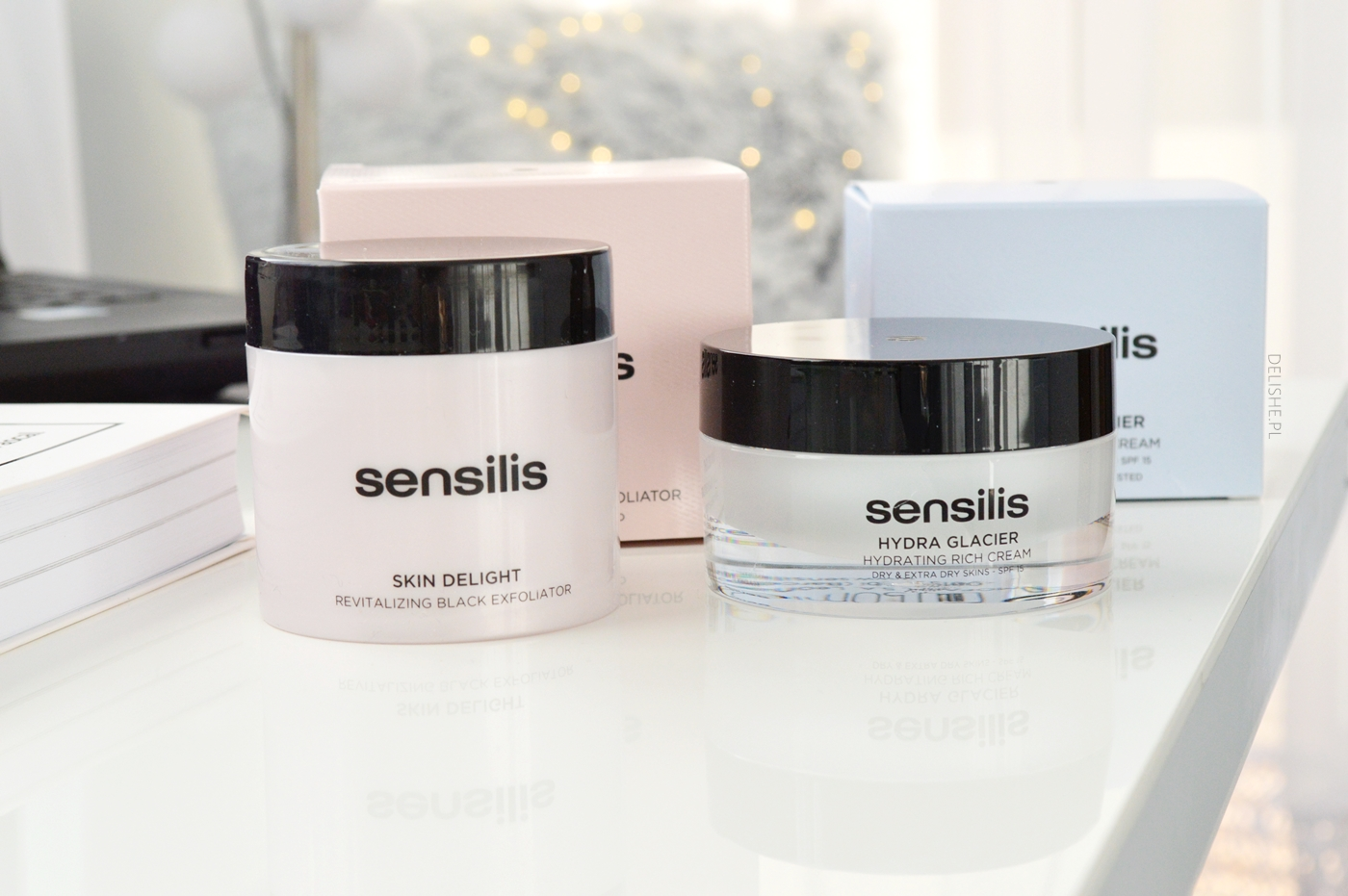 sensilis black exfoliator and cream