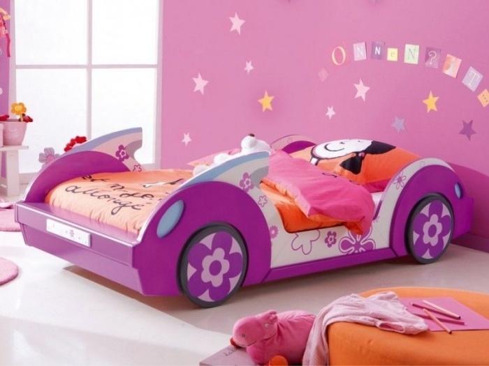 Habiitaciones para ni os tema autos dormitorios colores - Cama coche para ninos ...