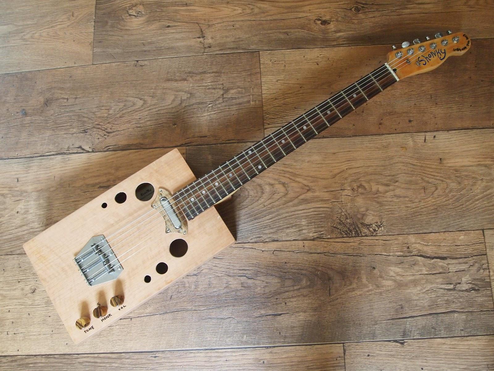 shonky 6 string and 4 string cigar box guitars. Black Bedroom Furniture Sets. Home Design Ideas