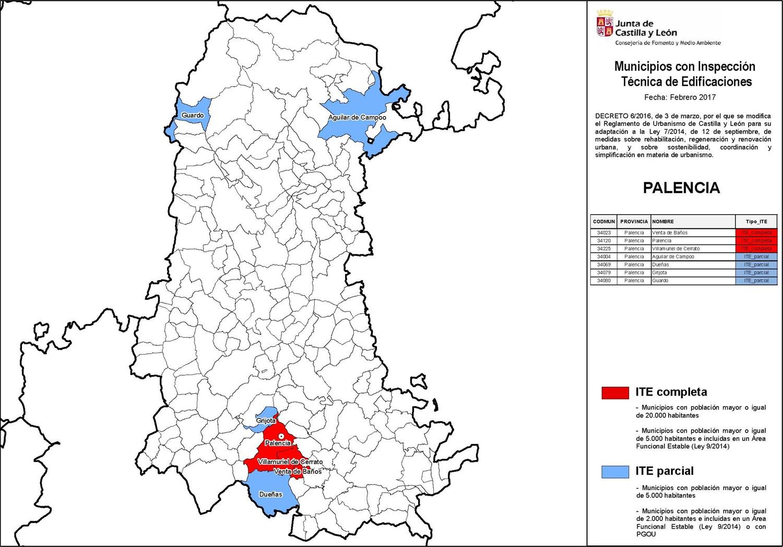 ite municipios provincia de palencia