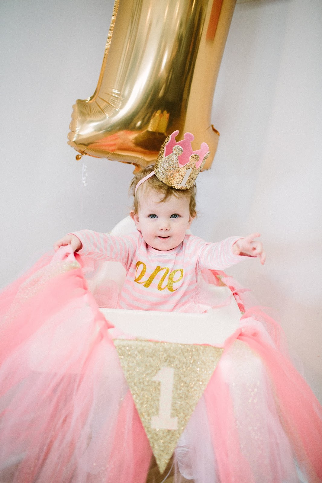 One Birthday Outfit, Baby Birthday Party Outfit, Pink tulle skirt