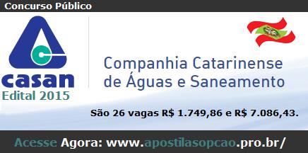 Apostila CASAN-SC - Todos os Cargos