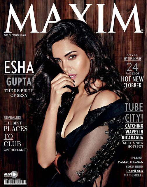 Esha Gupta on Maxim Magazine Cover Sept 2015