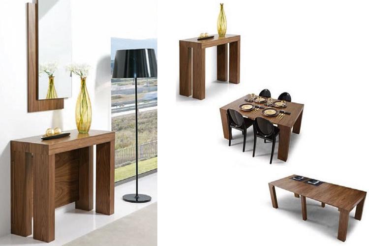 Marzua tipos de mesas para el comedor - Mesas comedor plegables tipo consola ...