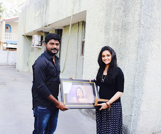 Keerthy Suresh with her Lucky Fan 1