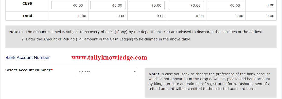 How to fill Refund Application under GST? - Tally Knowledge