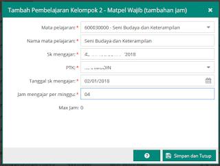 Jam Wajib Tambahan Max 4 Jam