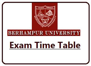 BU Odisha Exam Schedule 2021