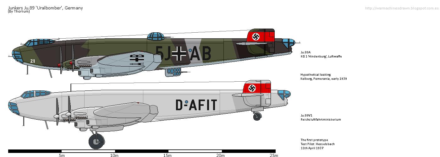 War Machines Drawn Junkers Ju89