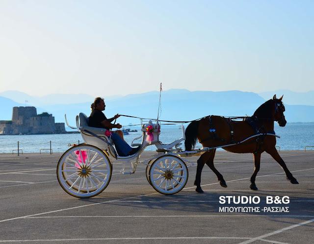 Η φωτογραφία της ημέρας: Βόλτα με την άμαξα στο Ναύπλιο