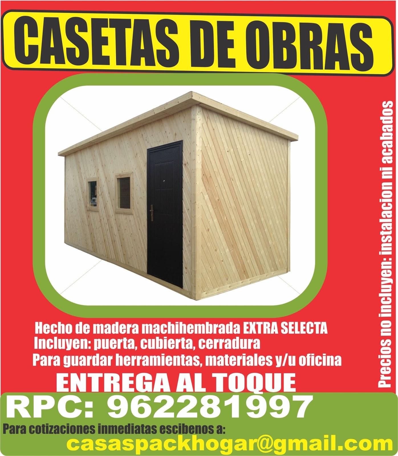 Casetas prefabricadas para oficinas en obras packhogar - Casetas de obra para jardin ...