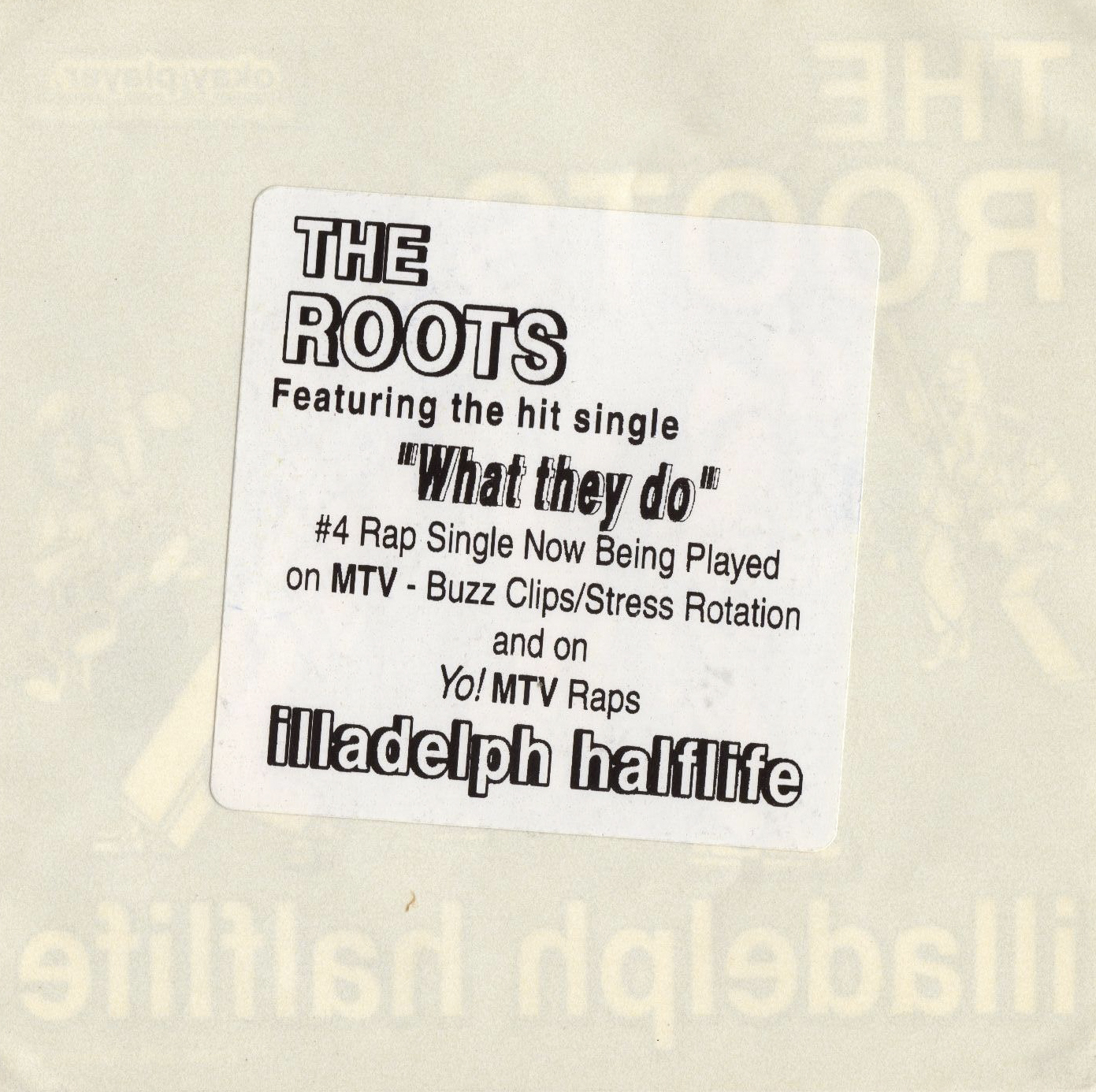 Hip Hop Nostalgia The Roots Quot Illadelph Halflife Quot Cmj 12 96