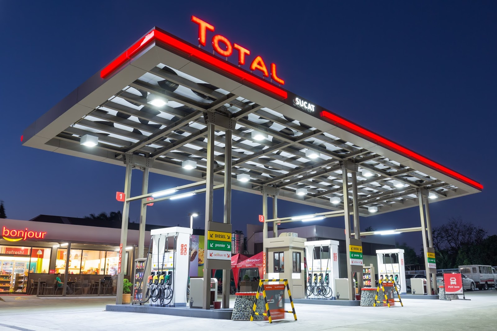 Gasoline Stations Pink Turbo Gasoline And Diesel Discounts From Total This