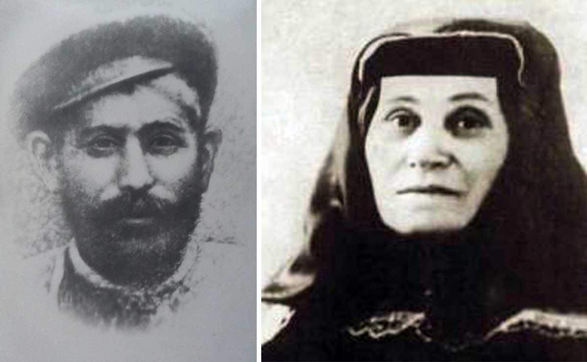 El padre de Stalin, Besarion, y la madre, Ketevan.