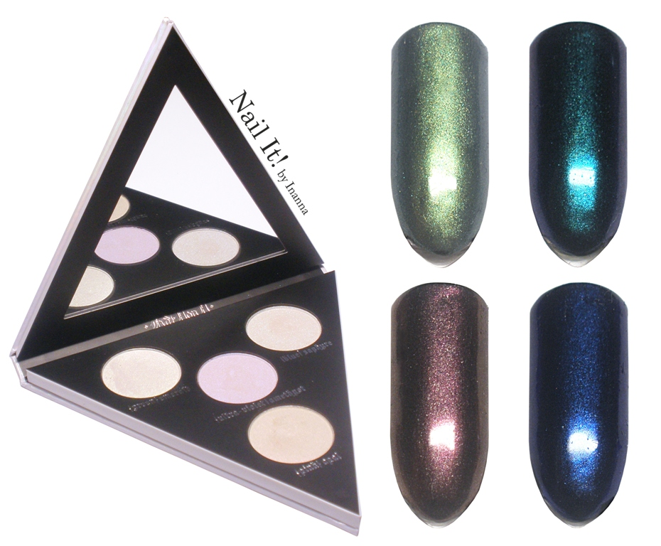 "Kat Von D ""Alchemist"" palette used as nail art powders? Swatches & Review"