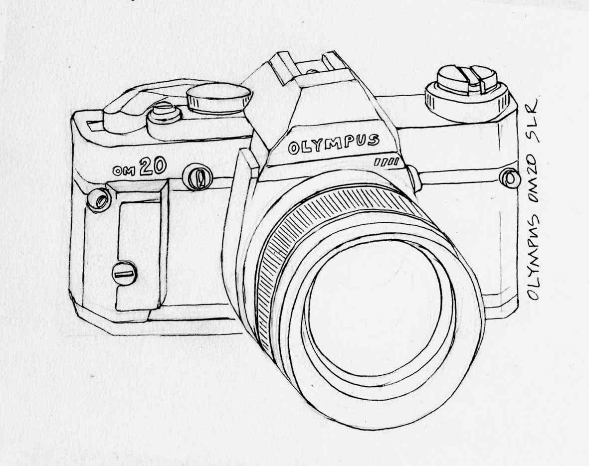 nikon dslr line drawing Gallery