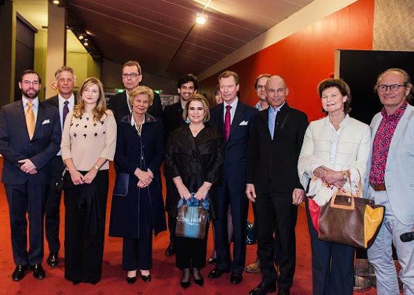Grand Duke Henri, Duchess Maria Teresa, Prince Guillaume, Princess Stephanie, Marie-Astrid and Princess Margretha. Solar Impulse, l'impossible tour du monde