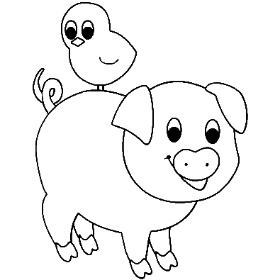 minecraft baby pig coloring pages | Cute Minecraft Baby Pig Coloring Pages Coloring Pages