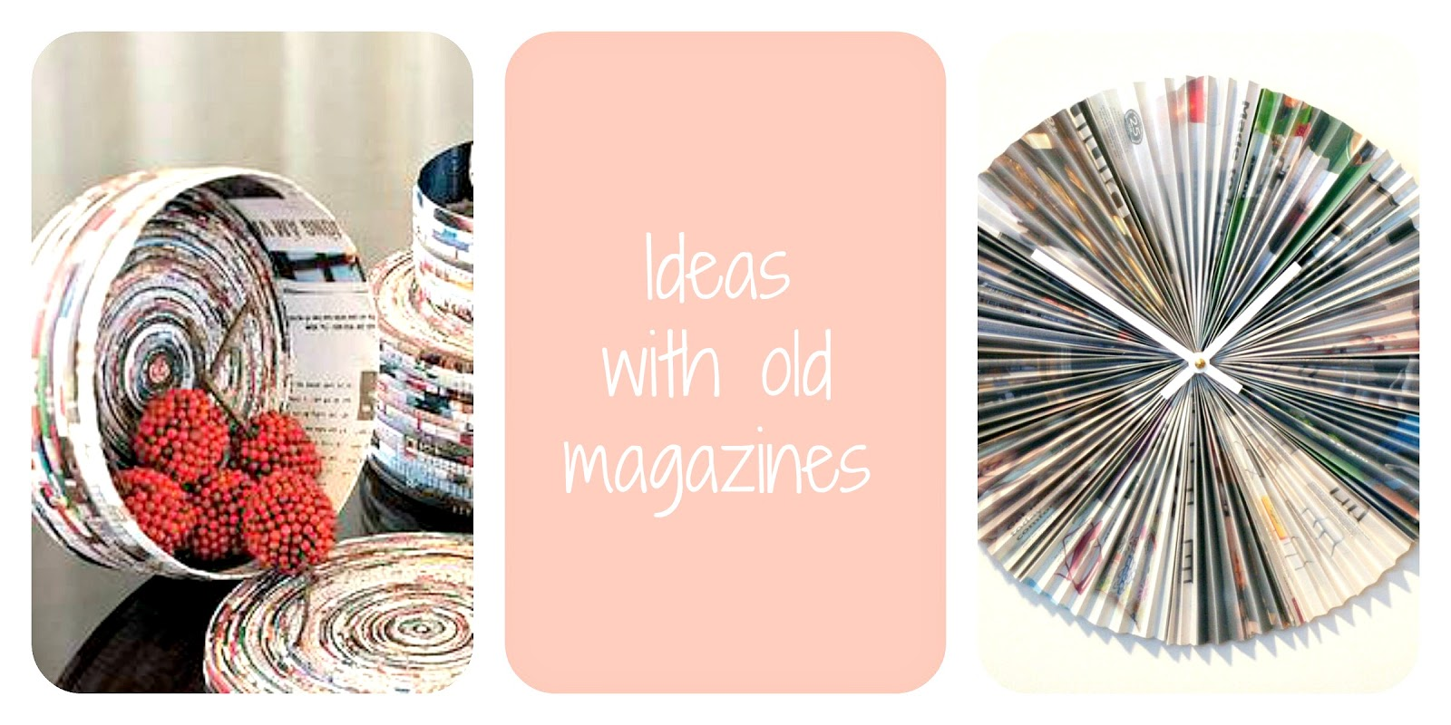 decorations with magazines