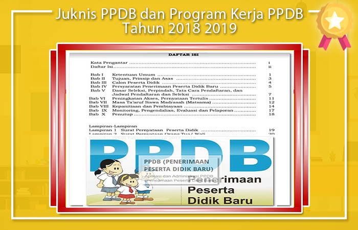 Juknis PPDB dan Program Kerja PPDB Tahun 2018 2019