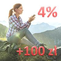 comperia bonus 6 bz wbk konto godne polecenia 4% premia 100 zł
