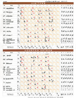 Tigers vs. Astros, 06-28-09. Tigers win, 4-3.