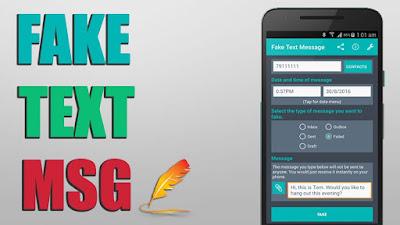 تطبيق Fake Text Message للأندرويد لعمل رسائل واردة وهمية, تطبيق Fake Text Message مدفوع للأندرويد