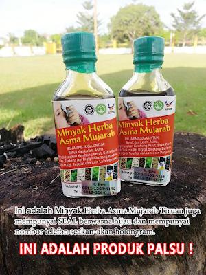 Minyak herba Asma Mujarab asli