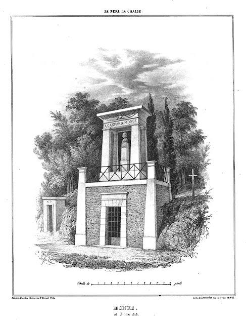 Paris Cemeteries: Gaspard Monge prints in division 18