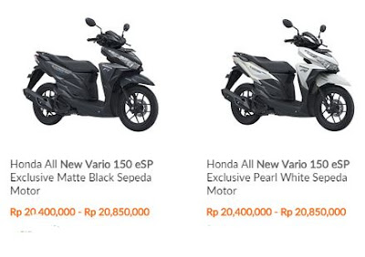 harga Motor  All new Vario 150 eSP