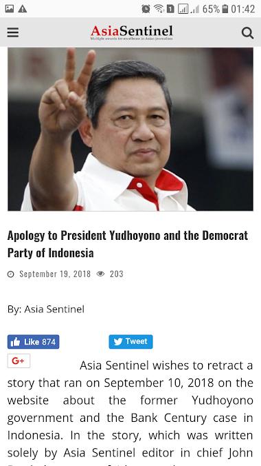 Kapok! Media Hongkong ini Minta Maaf Pada SBY dan Partai Demokrat