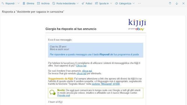 """""""Giorgio ha risposto al tuo annuncio"""""""