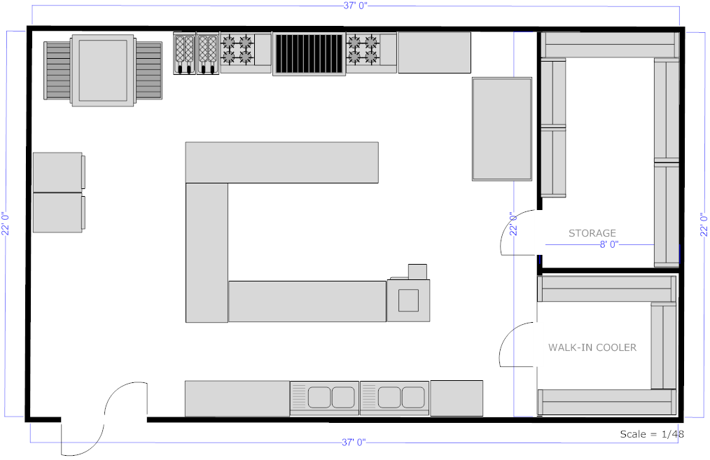 How To Lay Out A Kitchen Floor Plan: Foundation Dezin & Decor...: Professional Kitchen Layout