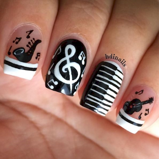 Musical Nails That Hit All The Right Notes Style Hunt World
