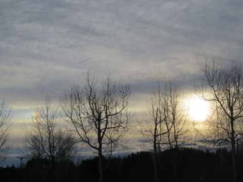 sun dog left of sun