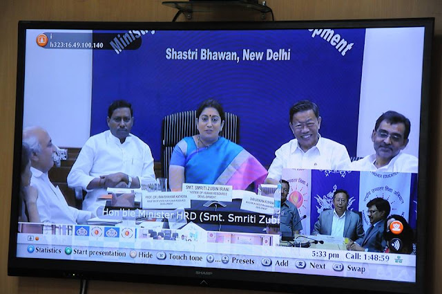 HRD Minister Smriti Irani launches Sikkim's Online Admission and RUSA Portal