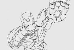 Catatanku Anak Desa Mewarnai Gambar Iron Man 3