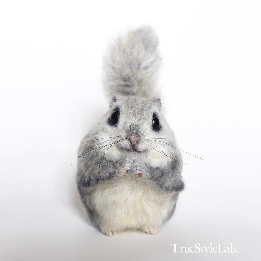 04-Flying-Squirrel-Terumi-Ohta-Giving-Life-to-Woollen-Animal-Sculptures-www-designstack-co