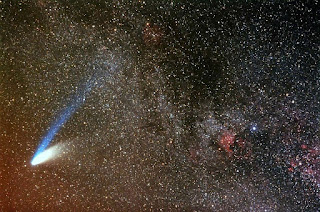 Image of Milky Way with North America Nebula and Comet Hale-Bopp Image by Michael Petrasko, Muir Evenden and Tom Lucia