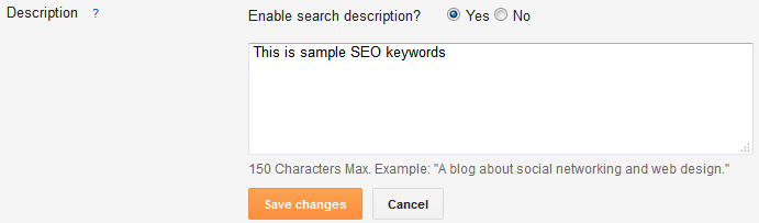 Enable Search Description in Blogger Post