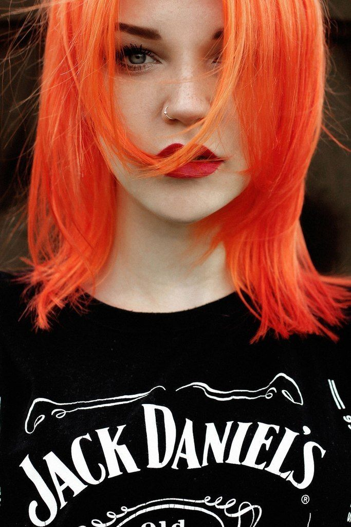 Bright Orange Hair Shades The Haircut Web
