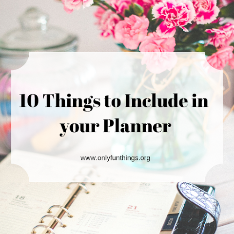 10 Fun Things to Include in Your Planner!