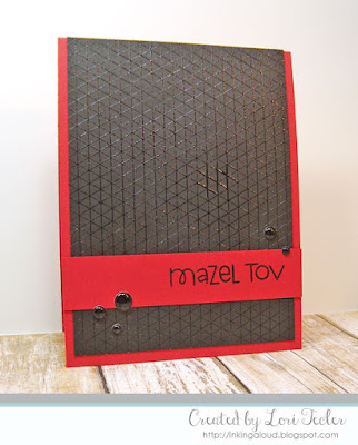 Mazel Tov card-designed by Lori Tecler/Inking Aloud