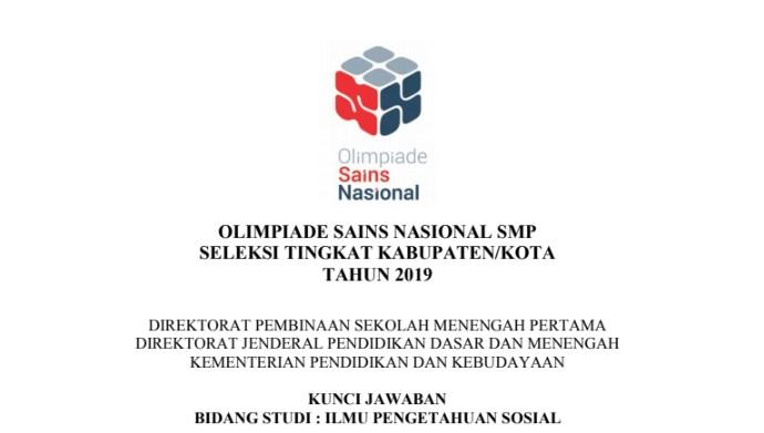 Soal dan Jawaban OSN IPS SMP 2019 Tingkat Kabupaten