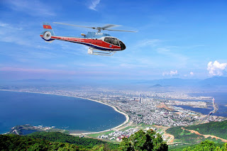Helicopter tours open in Da Nang for Tet