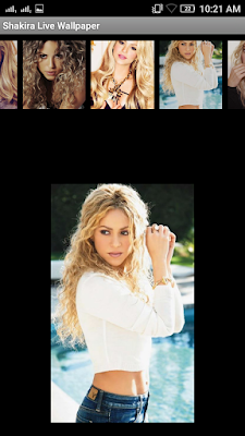 Shakira 3D live Wallpaper For Android Mobile Phone